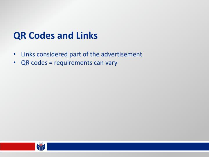 QR Codes and Links
