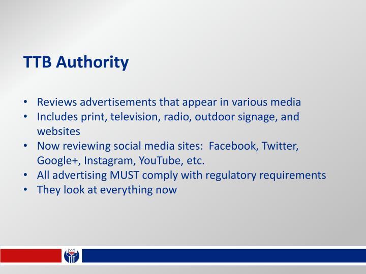 TTB Authority