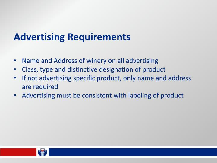 Advertising Requirements