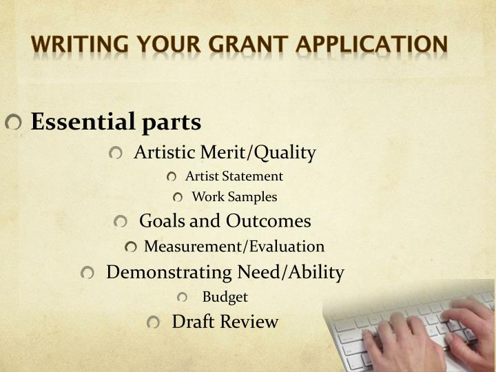 Writing your grant application
