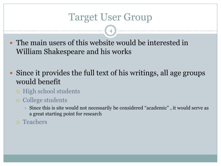 Target User Group