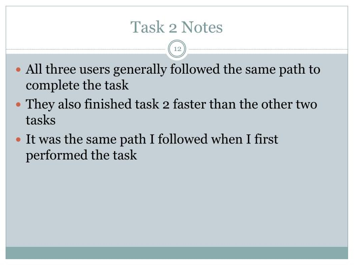 Task 2 Notes