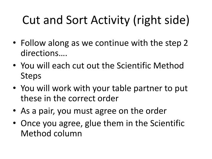 Cut and Sort Activity (right side)