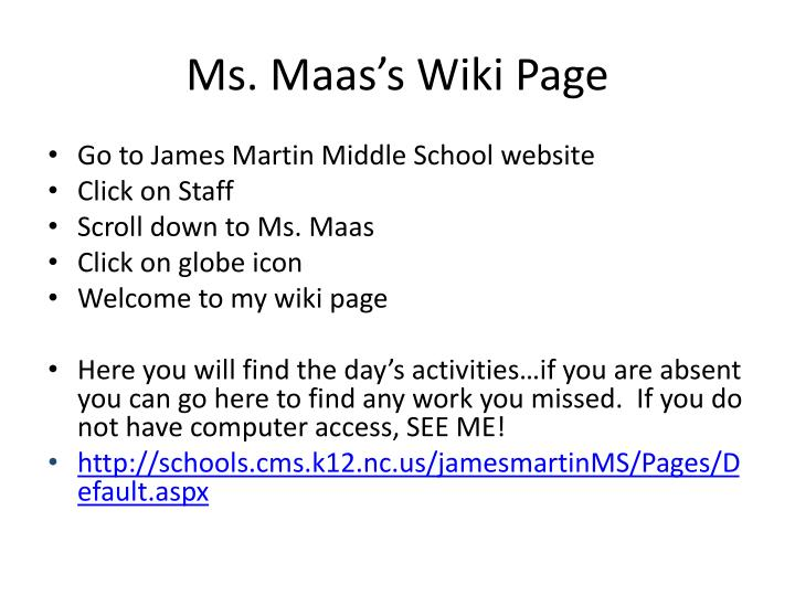 Ms. Maas's Wiki Page