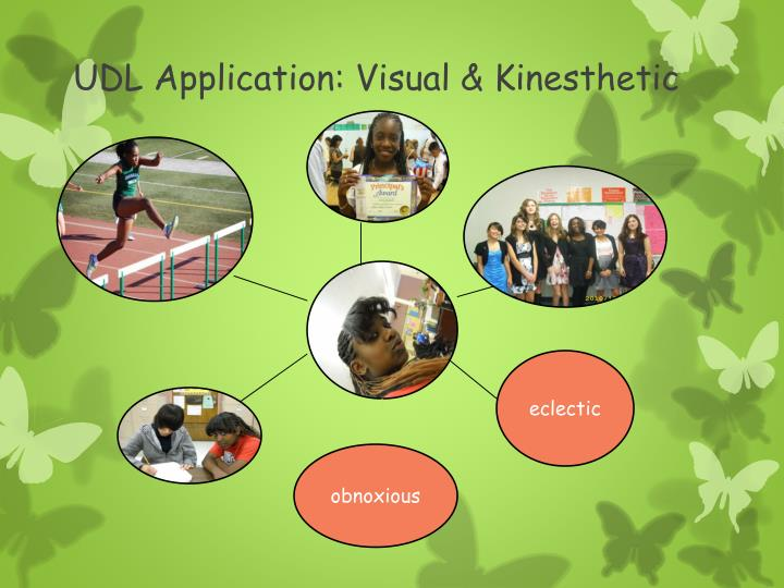 UDL Application: Visual & Kinesthetic