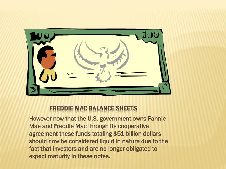 Freddie Mac Balance sheets