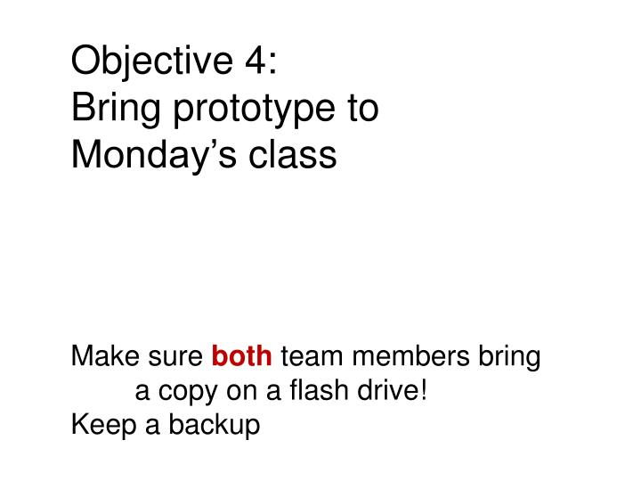 Objective 4: