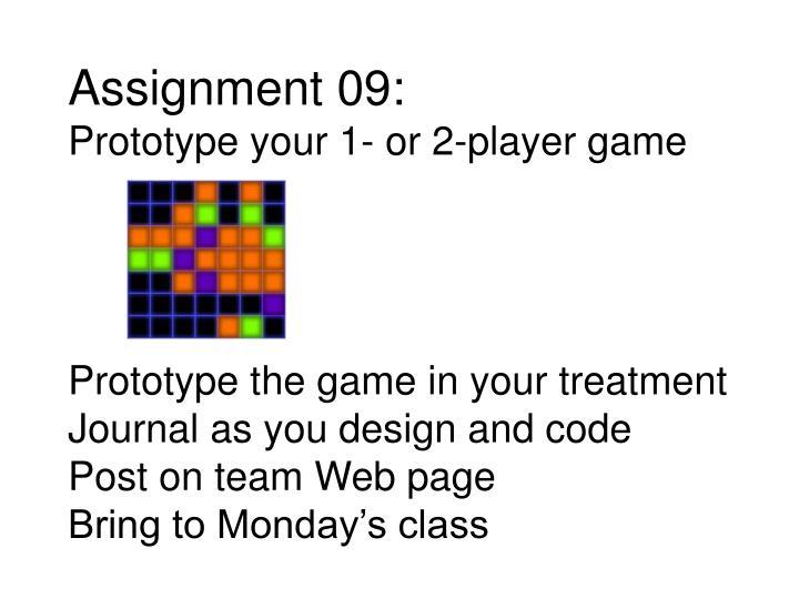 Assignment 09: