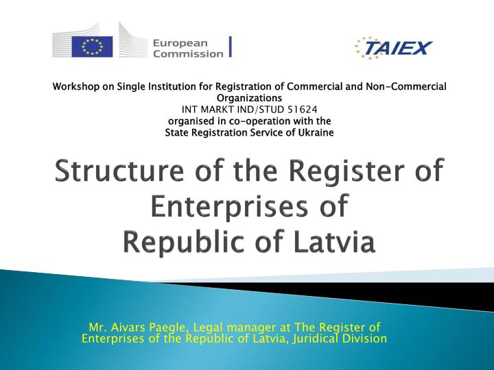 Structure of the register of enterprises of republic of latvia