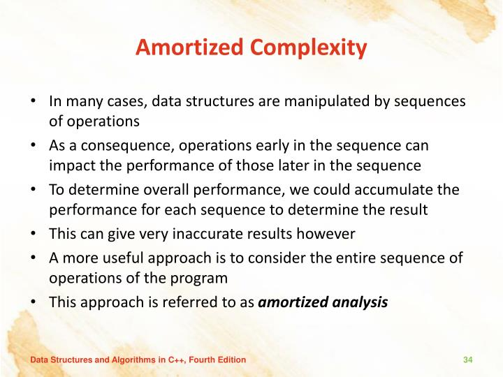 Amortized Complexity