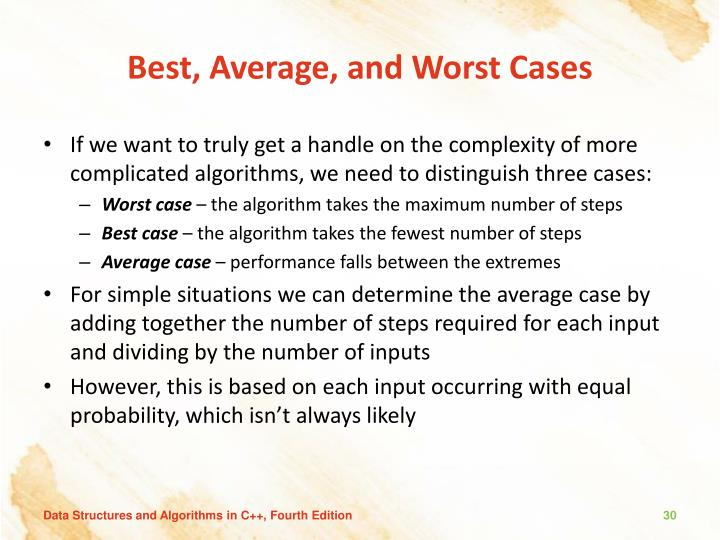 Best, Average, and Worst Cases