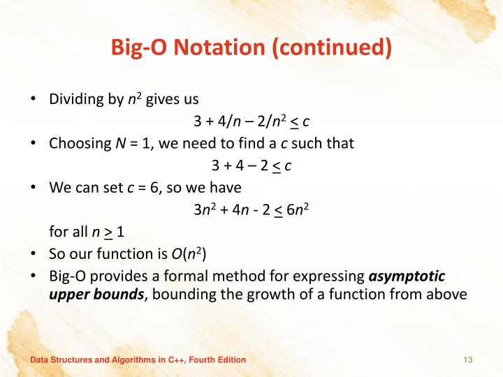 Big-O Notation (continued)