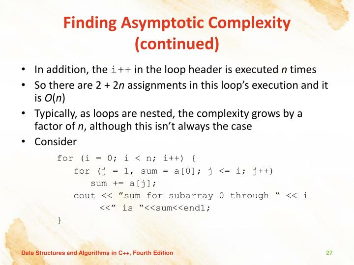 Finding Asymptotic Complexity