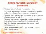 finding asymptotic complexity continued1