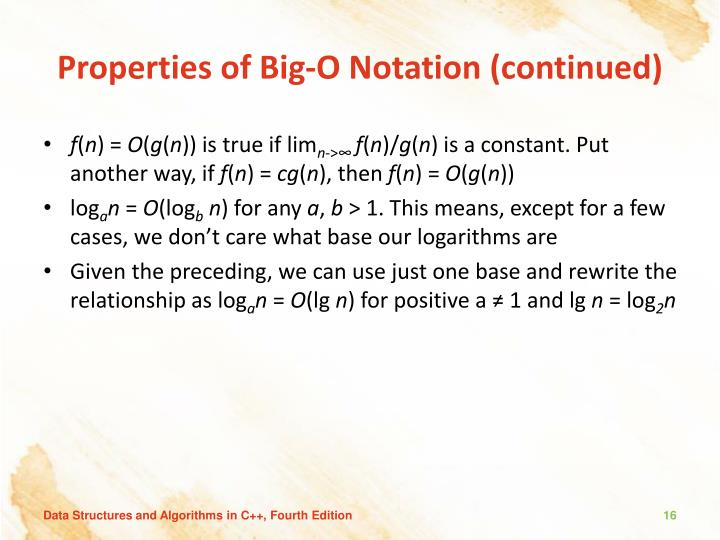 Properties of Big-O Notation (continued)