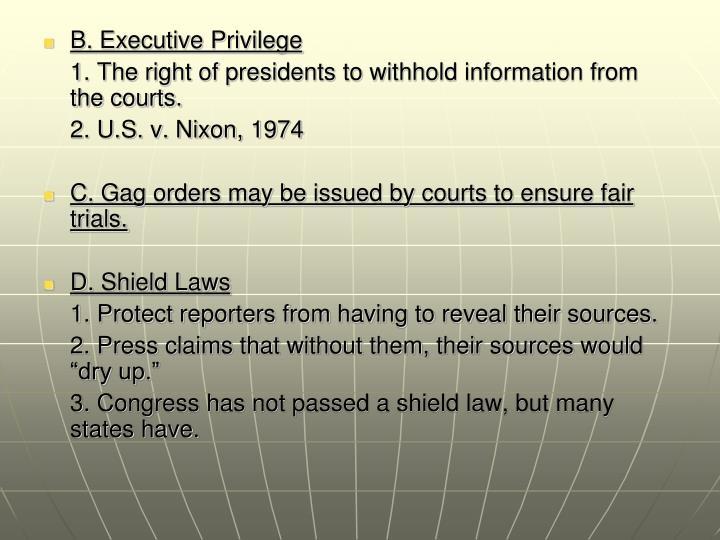 B. Executive Privilege