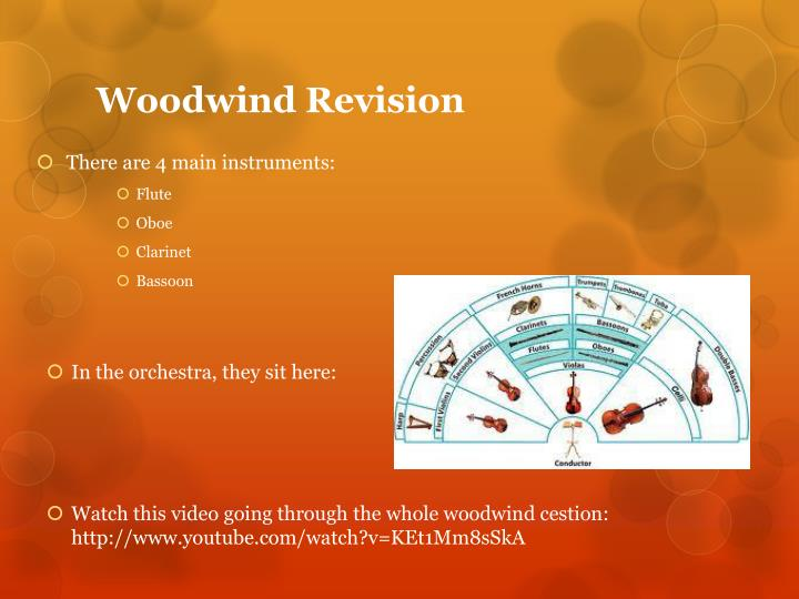 Woodwind Revision