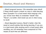 emotion mood and memory