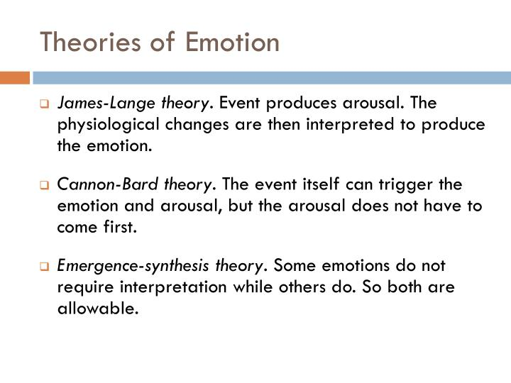 Theories of Emotion