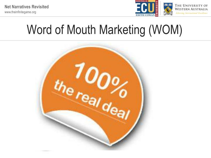 Word of mouth marketing wom