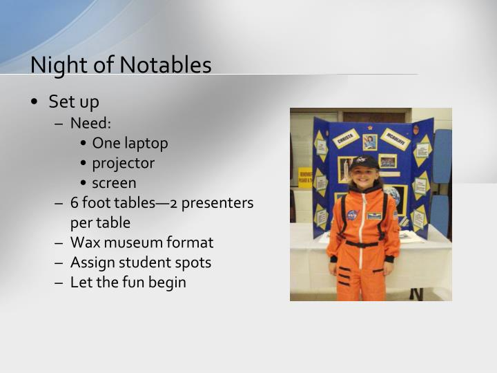 Night of Notables
