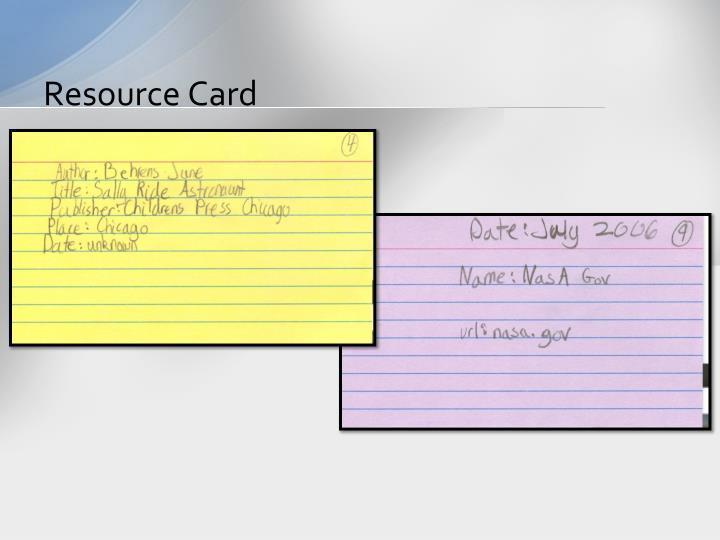 Resource Card