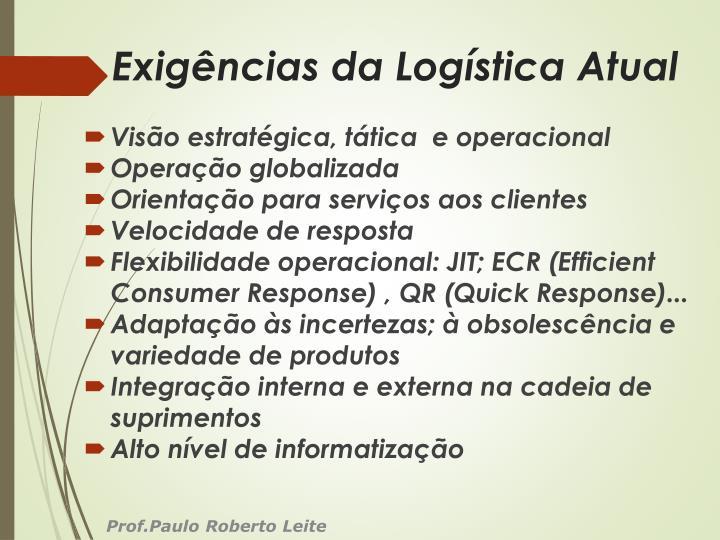 Exigências da Logística Atual