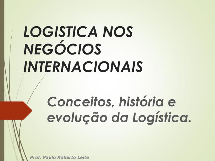 LOGISTICA NOS NEGÓCIOS