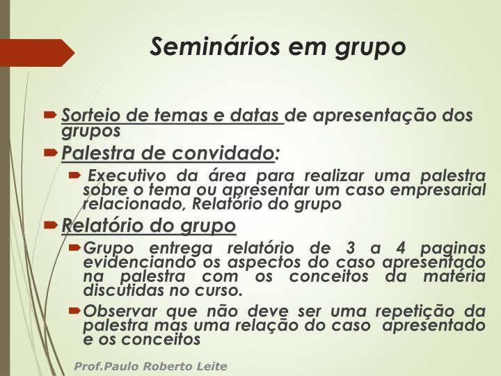 Seminários em grupo