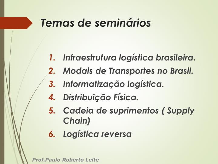 Temas de seminários