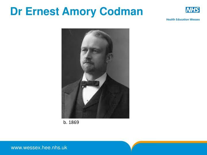 Dr Ernest Amory