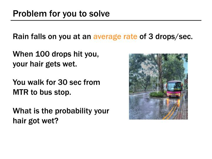 Problem for you to solve