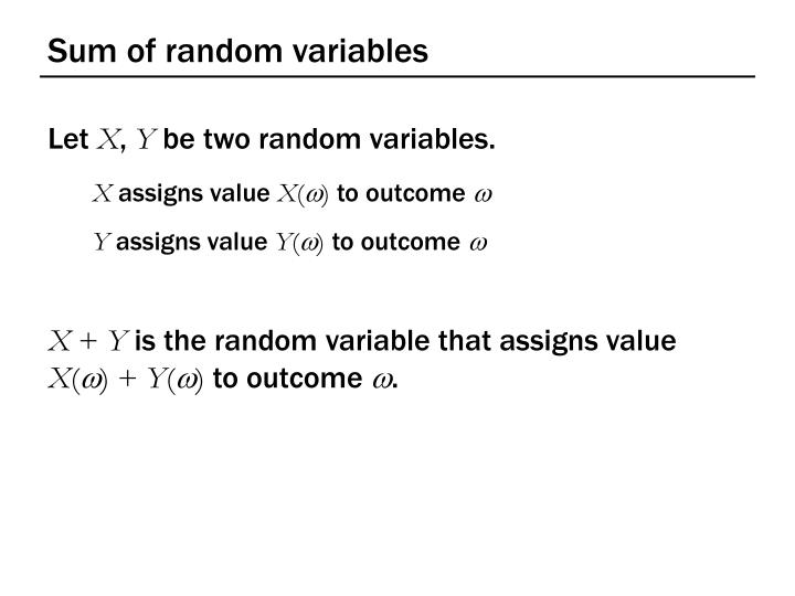 Sum of random variables