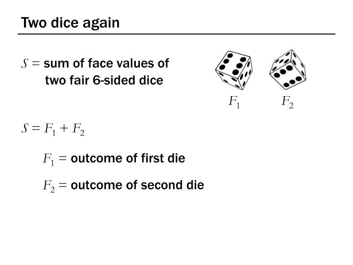 Two dice again