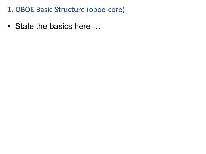 1. OBOE Basic Structure (oboe-core)