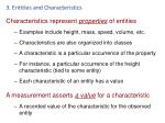 3 entities and characteristics1
