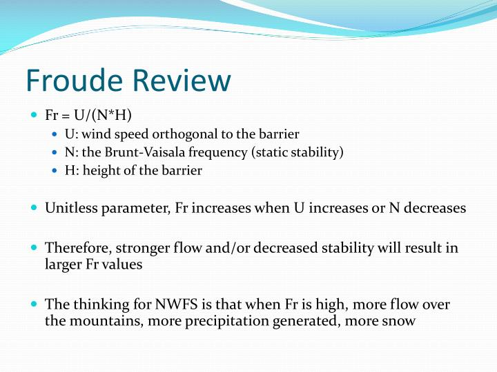 Froude Review