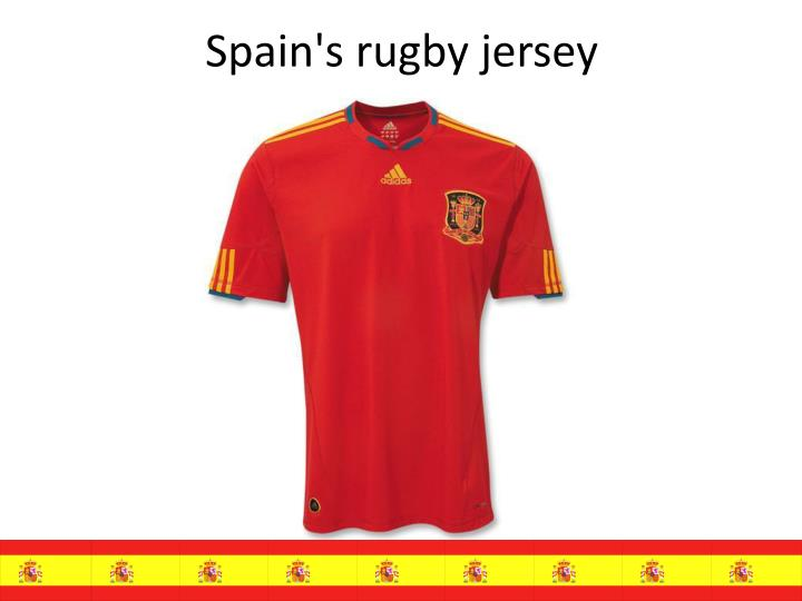 Spain's rugby jersey