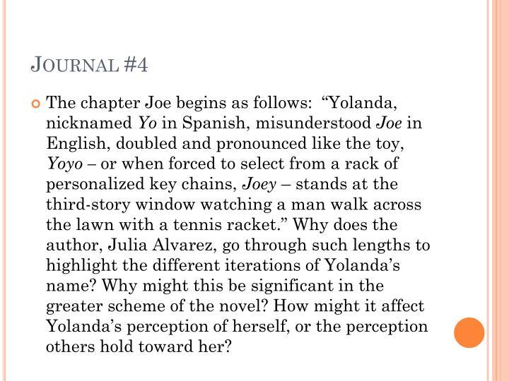 Journal #4
