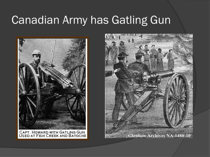 Canadian Army has Gatling Gun