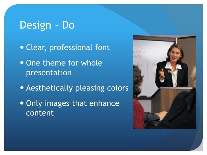 Design - Do