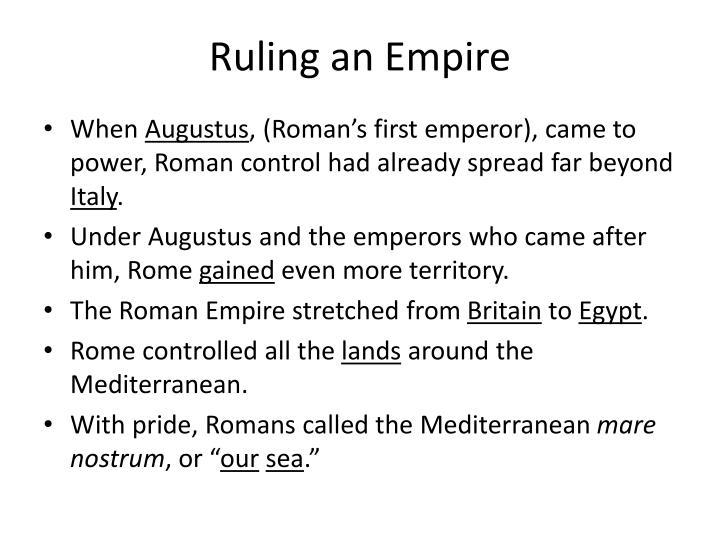 Ruling an Empire