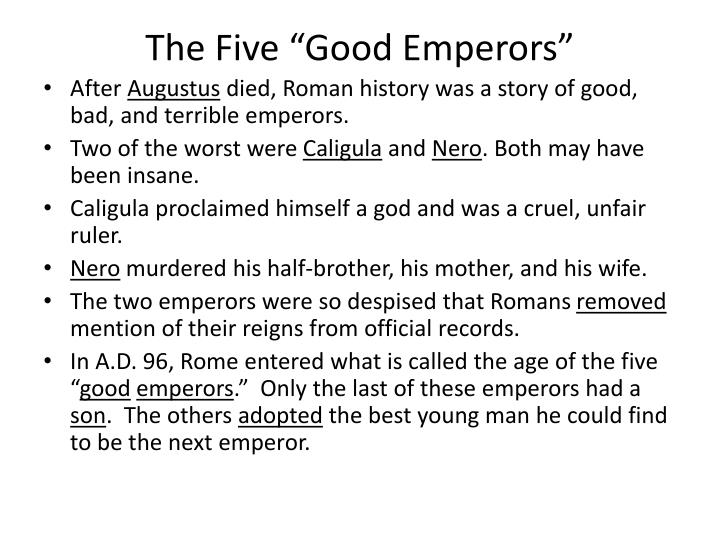 """The Five """"Good Emperors"""""""