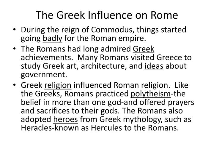 The Greek Influence on Rome