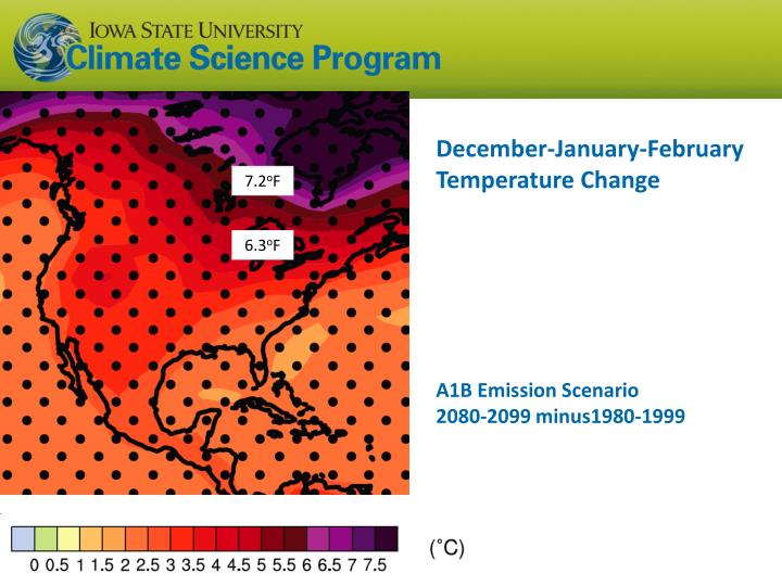 December-January-February  Temperature Change