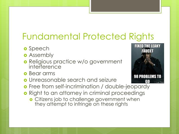 Fundamental Protected Rights