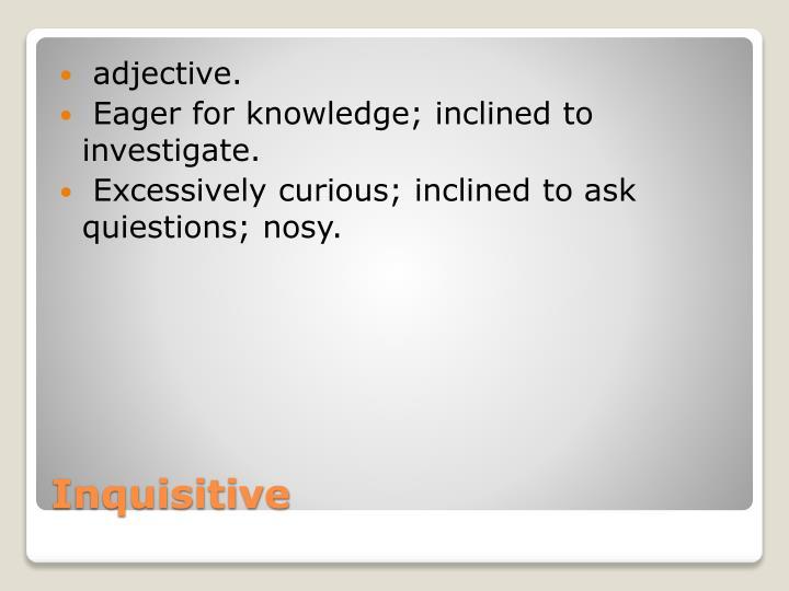adjective.