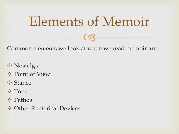 Elements of Memoir