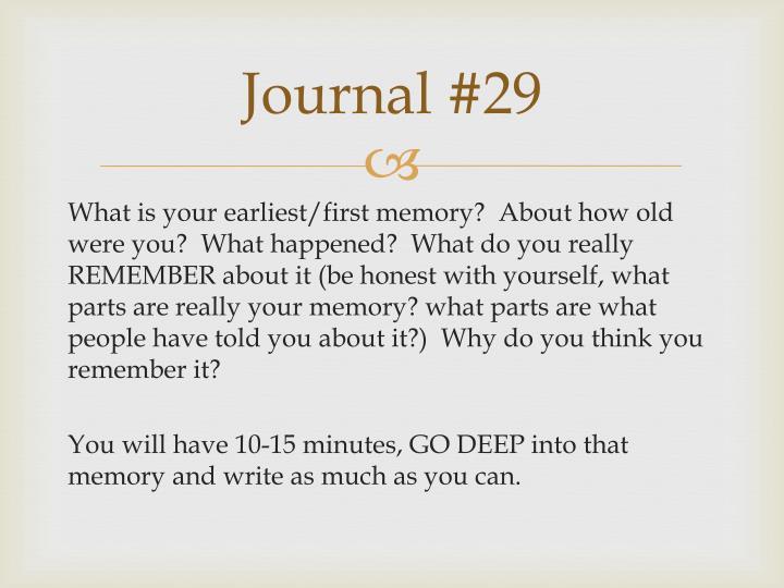 Journal #29