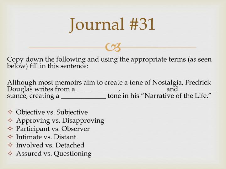 Journal #31